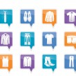 Man fashion and clothes icons — Stock Vector #8413538