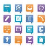 Zakelijke en office internet-pictogrammen — Stockvector