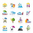 Insurance and risk icons — Image vectorielle