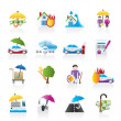 Stock Vector: Insurance and risk icons