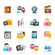 Stock Vector: Social networking and communication icons
