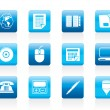 Royalty-Free Stock Imagen vectorial: Business and Office tools icons