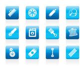 Realistic Car Parts and Services icons — Cтоковый вектор