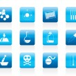 Chemistry industry icons - Stock Vector