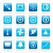 Royalty-Free Stock Vectorielle: Car Dashboard icons