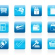 Online shop icons - Stok Vektr