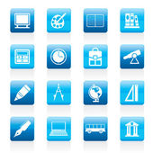 School and education icons — Stock Vector