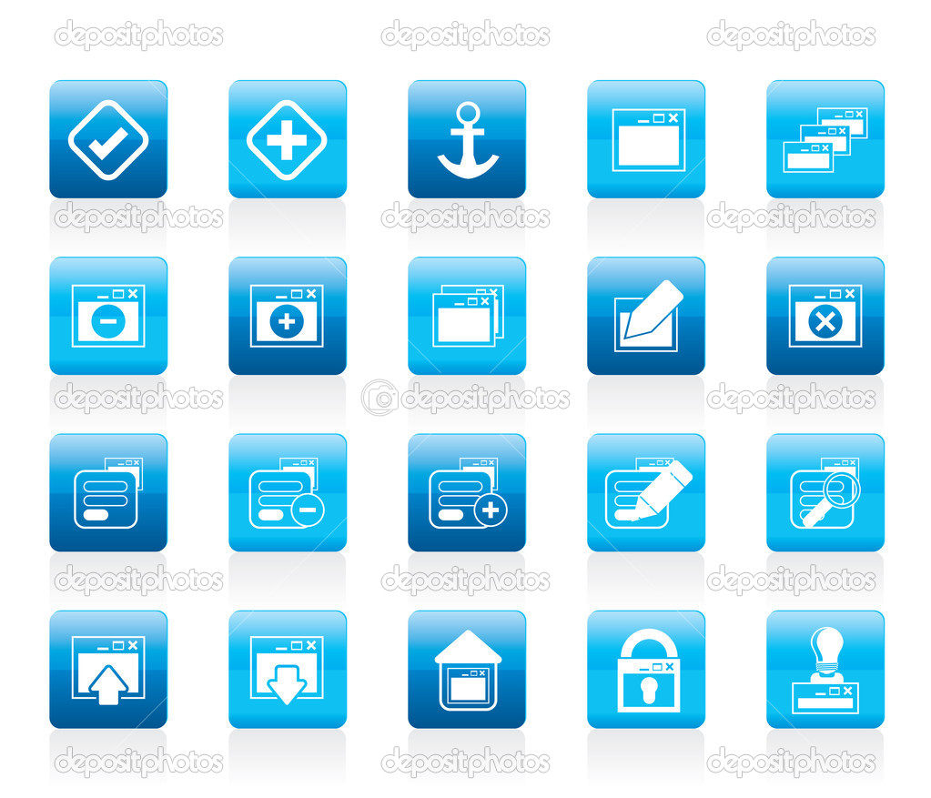 Application, Programming, Server and computer icons vector Icon Set 1 — Stock Vector #8800561