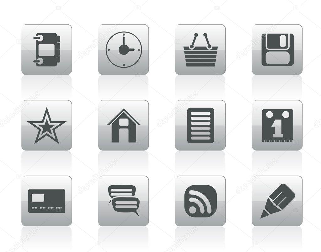 互联网和网站图标-矢量图标集