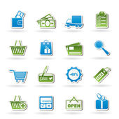 Shopping and website icons — Stock Vector
