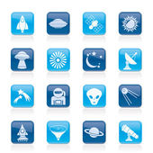 Astronautics, space and universe icons — Stock Vector