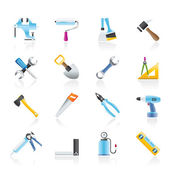 Building and Construction work tool icons — Stock Vector