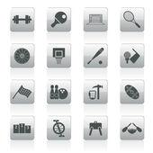 Sportartikel sportausrüstung und tools — Stockvektor