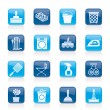 Household objects and tools icons - Imagen vectorial