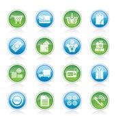 Online shop icons — Stockvector