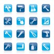 Building and Construction work tool icons — Stock Vector #9157331