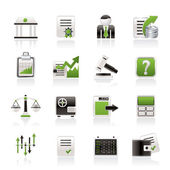 Stock exchange and finance icons — Vector de stock