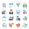 Taxes, business and finance icons - Stok Vektr