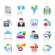 Taxes, business and finance icons - Image vectorielle