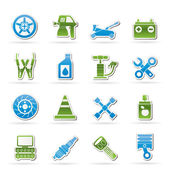 Transportation and car repair icons — Stock Vector