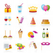Birthday and party icons - Stock Vector