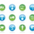 Building and Construction equipment icons - Stock Vector