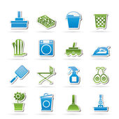 Household objects and tools icons — Stock Vector