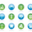 Power and electricity industry icons - Stock Vector