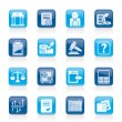 Stockvektor : Stock exchange and finance icons