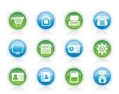 商业、 办公和网站图标 — 图库矢量图片
