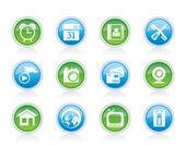 Mobiele telefoon en computer pictogrammen — Stockvector