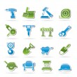 Stock Vector: Building and construction icons
