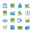 Stock exchange and finance icons - Stockvektor