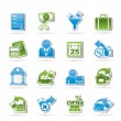 Taxes, business and finance icons — Stockvectorbeeld