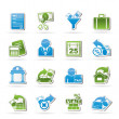 Taxes, business and finance icons - Stock Vector