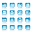 Database and Table Formatting Icons - Stock Vector