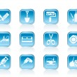 Building and construction icons - Stock Vector