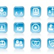 Internet Community and Social Network Icons - Vettoriali Stock