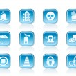 Surveillance and Security Icons - Stock Vector
