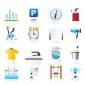 Hotel and travel icons — Stock Vector