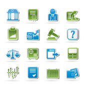 Stock exchange and finance icons — Stockvektor