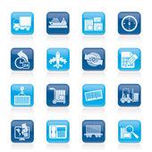 Icônes de navigation et de la logistique — Vecteur