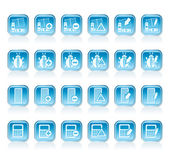 24 Business, office and website icons — Stock Vector