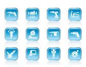 ícones de ferramentas de construção civil — Vetorial Stock