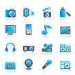 Multimedia and technology icons — Stock Vector #9875341