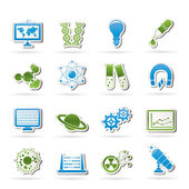 Science, research and education Icons — Stock Vector