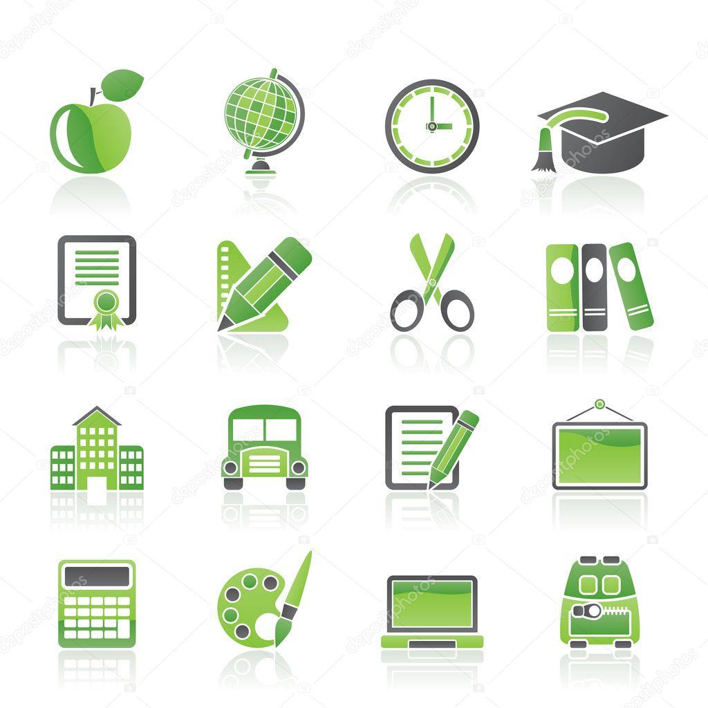 学校和教育图标-矢量图标集