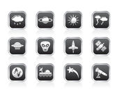 Astronautics and Space and univerce Icons — Stock Vector