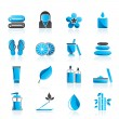 Spa objects icons - Stock Vector