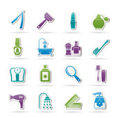 Body care and cosmetics icons — Stock Vector